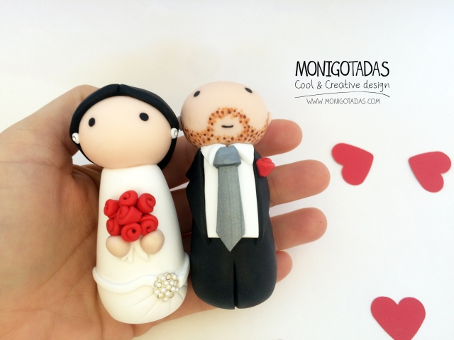 Novios Wedding cake topper 07
